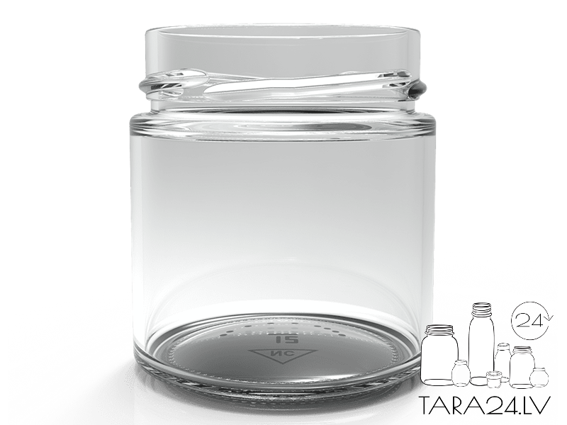 200m Glass jar, Deep Twist